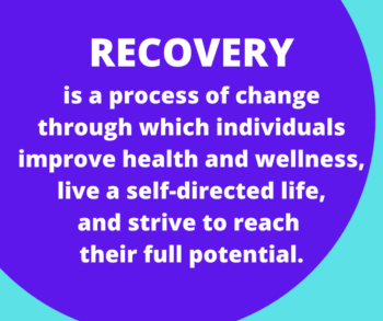 Recovery Month Square Purple Circle