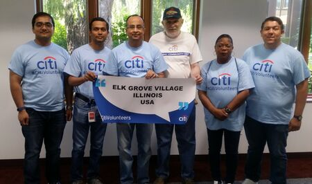 Citi Group Photo With Banner 6 7 17