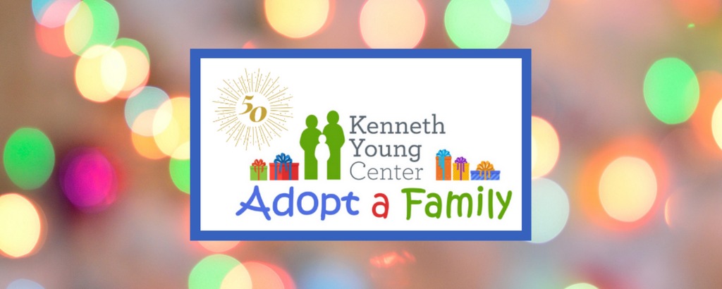 Adopt a Family 50th Logo with Lights Background Banner